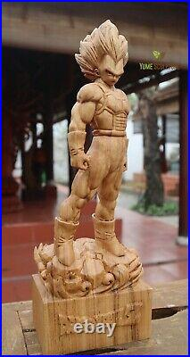 Vegeta Anime Dragon Ball Z Akira Toriyama Saiyan Statue Sculpture Wooden Carving