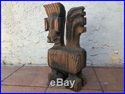 Vintage 1950's 1960's Large Carved Wood Witco Horse Sculpture