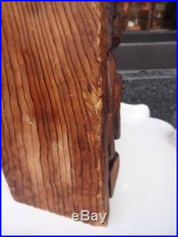Vintage 60s Witco 12 Tiki Wood Carving Sculpture Hawaiiana