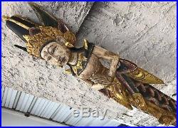 Vintage 65 Nyi Blorong Indonesian Bali Mermaid Goddess Carved Wood Sculpture