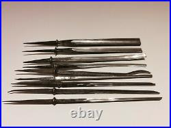 Vintage Antique Rare Collectible German Tools Wood Carving 9 Chisels Dastra