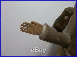 Vintage BEN ORTEGA Carved Wood SAINT FRANCIS Sculpture SIGNED