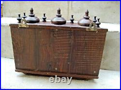 Vintage Indian Wall hanging wooden Temple Hand Crafted STAND with drawer