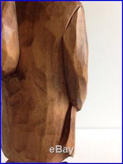 Vintage Quebec Hand Carved Wood Sculpture SAILOR Lifelike Canada Original Signed