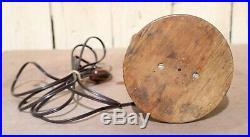 Vintage Wood Sculpture Hand Carved Long Neck Bird Table Lamp Works