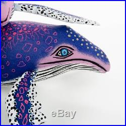 WHALE Oaxacan Alebrije Wood Carving Mexican Art Sculpture by Eleazar Morales