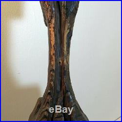 WITCO Mid Century Modern Primitive Tribal Tiki Statue Sculpture Carved Wood