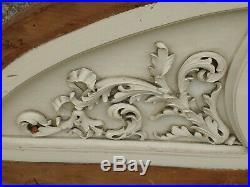 Wood Carving Architectural Pediment Art Sculpture Home Decor Window Door