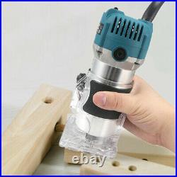 Wood Trim Trimmer Router Set 800W 110V 220V Electric Carving Machine 15pcs Bits
