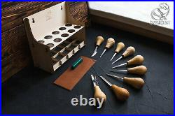 Wood carving set of 10 palm chisels professional wood carving set wood carving t