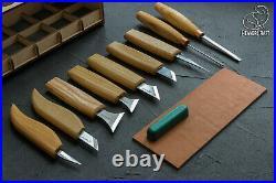 Wood carving set of 9 tools professional wood carving set wood carving tools Be