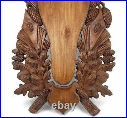 Wooden Base Shield Trophy Wood Carving Mounting Plaque For Red Deer Stag Skull