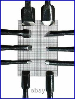 Yoitarikikougyou x10 Japanese Wood Carving Chisel Kit Flat U Bent Gouge V Tool