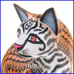 ZAPOTEC JAGUAR Oaxacan Alebrije Wood Carving Fine Mexican Folk Art Sculpture