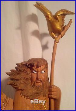 Zelkova Wood, Japanese Sculpture/Carved Figure of Emperor Jimmu Tenno